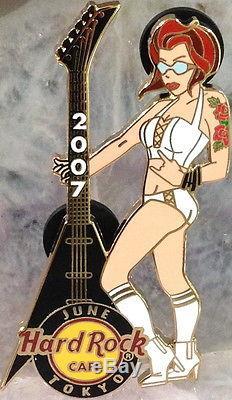 Hard Rock Cafe Tokyo 2007 Série Rock Girl Sexy Babes Avec Guitars 6 Pin Set
