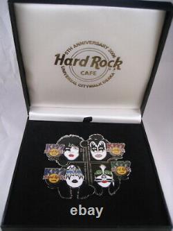 Hard Rock Cafe Ucw Osaka 5e Anniversaire Kiss Band Face Puzzle 4 Pins Box Set 06