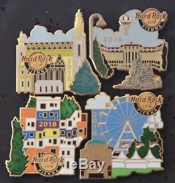 Hard Rock Cafe Vienne Façade Puzzle Set 4 Pins 2018