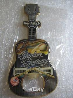 Hard Rock Cafe Yankee Stadium Aimant D'ouverture De Bouteille De Guitare Rare Vhtf