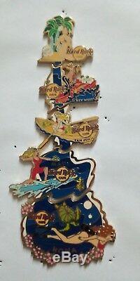 Hard Rock Islands Café Pins De Puzzle. Extrêmement Rare