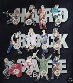 Htf Original Vintage Hard Cafe Café Belfast (fermé) Musicians Pin Badge Set Le