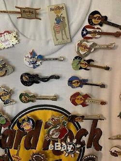 Incroyable Collection Hard Rock Café Pins 100 Plus Pin Pinback De Collection