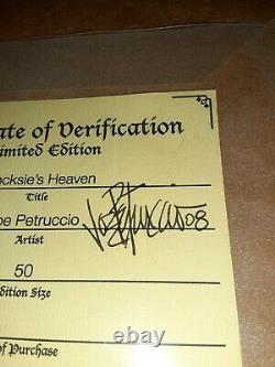 Joe Petruccio A Signé #d 50 Hard Rock Park Framed Pin Set Rare Rocksie's Heaven