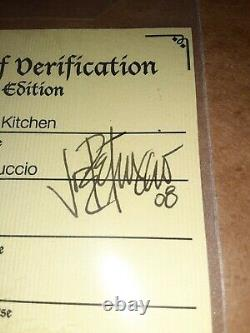 Joe Petruccio A Signé #d 50 Hard Rock Park Framed Pin Set Rare Rocksie's Kitchen
