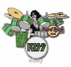 Kiss Hard Rock Cafe Épinglette Peter Criss 1 Sur 100