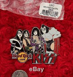 Kiss Hard Rock Cafe Pin Band Groupe Blitz Le100 Costume De Chapeau De Gene Simmons XL