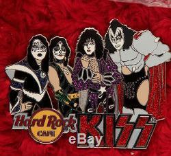 Kiss Hard Rock Cafe Pin Band Groupe Blitz Le100 Costume De Chapeau De Revers Gene Simmons XL