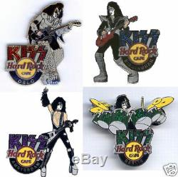 Kiss Hard Rock Café Pin Group Guts Le 200 2006 Set