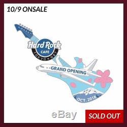Lasthard Rock Cafe Japon 2018 Pin Grande Ouverture De Guitare De L'aéroport De Narita À Tokyo Nrt