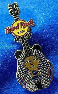 Le Caire Egypte Antique King Toutankhamon Pharaon Or Masque Guitar Hard Rock Cafe Pin