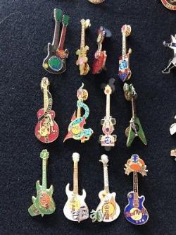 Lot 35 Dur Rock Cafe Pins Vintage À La Retraite Certaines Filles De Guitare Édition Limitée