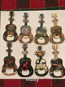 Lot De 62 Hard Rock Cafe Guitar Décapsuleurs. Dans Le Monde Entier. No Doubles