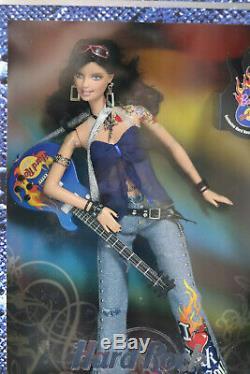 Mattel 2005 Hard Rock Cafe Barbie Avec Guitare Et Pin Nib