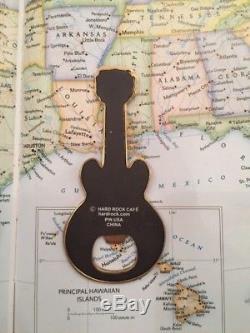Maui Hawaii Guitar Aimant En Métal Souvenir Hard Rock Cafe Hrc Bo Rare