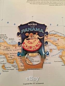 Panama Hard Rock Cafe Hrc Tête De Guitare Magnet City Bouteille Souvenir