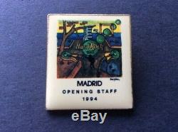 Pin's Du Personnel D'ouverture Du Hard Rock Cafe Madrid 1994
