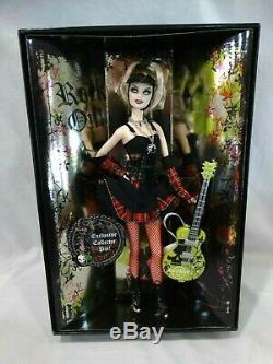 Poupee Barbie Cafe Cafe Dur # 6 Mattel # L9663 Withguitar & Pin Nrfb 2008