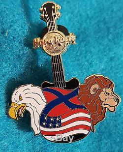Rare Hamish Dodds Président-directeur Général Bald Eagle Et Lion Flags Guitar
