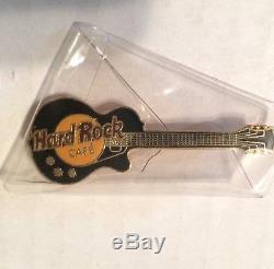Rare Hard Rock Cafe Original Parry Backed Noir Les Paul Guitare Pin London Nib