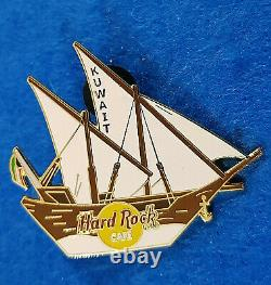 Rare Koweït Twin Masted Dhow Voilier Navire Blanc Voiles Hard Rock Cafe Pin