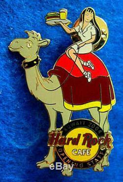 Rare Personnel D'ouverture Koweït Girl Chameau Desservant Hard Rock Cafe Boisson Pin Le