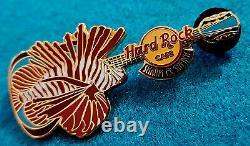 Rare Sharm El Sheikh Egypte Red Sea Lion Fish Blue Guitar Hard Rock Cafe Pin Le