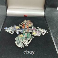 Rock Band Kiss Hard Rock Cafe Narita Tokyo 2006 Pin Badge Set Rare