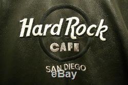 Veste En Cuir Originale De Café De Roche Dure De San Diego Avec Tous Les Hommes De Taille De Goupille D'accès L