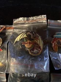 Vintage Lot De Hard Rock Café Membre Pins 22 Nos