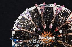 XL Hard Rock Café Pin Las Vegas Astrologie Puzzle Horoscope Zodiaque Guitare Arc-en-ciel